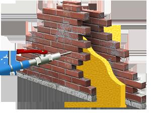Post-isolation de murs creux