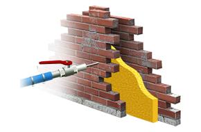 Post-isolation mur creux